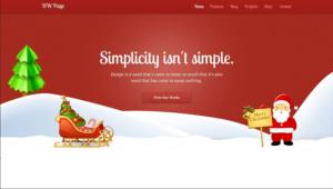 Theme, für ein weihnachtliches Äußeres