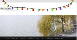PlugIn, eine Lichterkette für WordPress